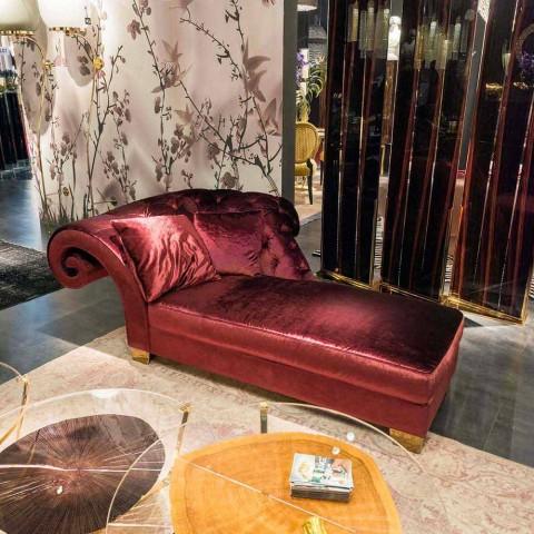 klassieke chaise longue met stof 100% Made in Italy Basco