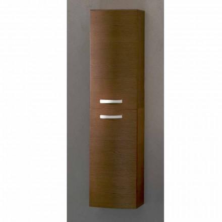 Gioia, hangend badmeubel met 2 deuren in eikenhout, gemaakt in Italië