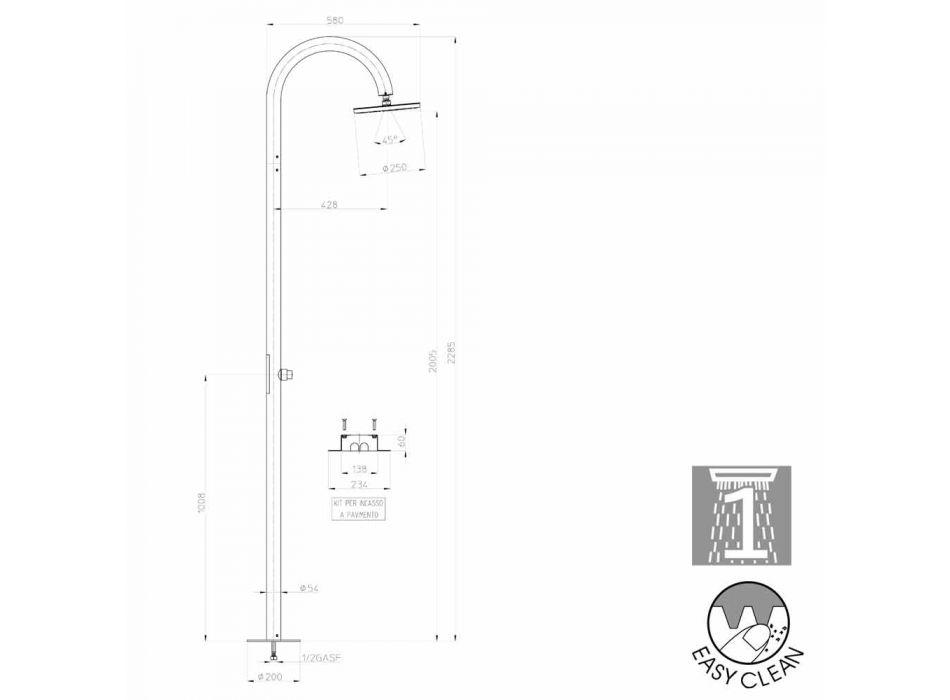 Column Bossini Oki moderne douche met ground power