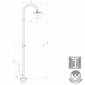 Column Bossini Oki moderne douche met zijtoevoerpoort