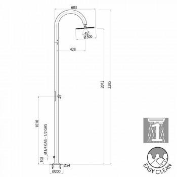 Column moderne douche met kracht op de grond Bossini Twiggy