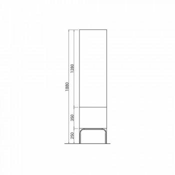 Amanda houten badkamermeubel met 2 deuren, modern design, gemaakt in Italië