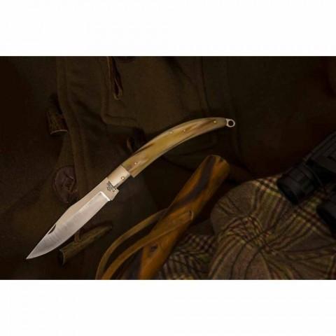 Antiek handgemaakt jachtmes met stalen mes gemaakt in Italië - Afri