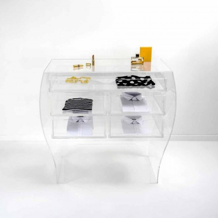 Chest 5 laden modern design plexiglas Billy
