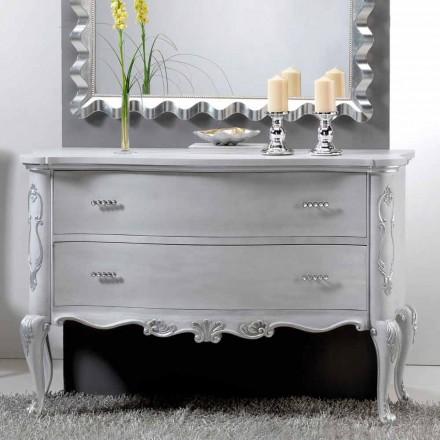 Dresser klassiek design en massief houten handvatten Bone Crystal