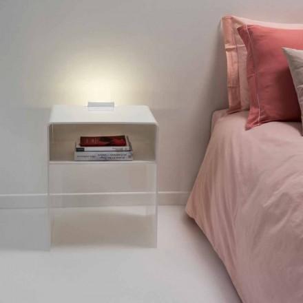 Nachtkastje met witte LED-licht verlicht aanraking Adelia