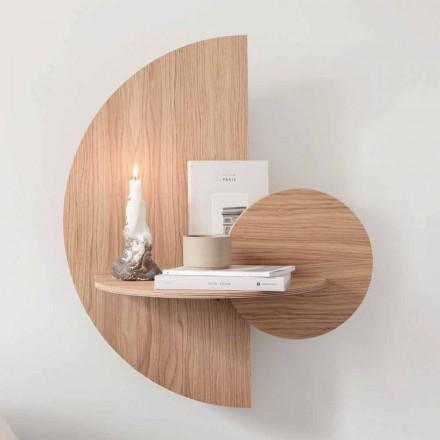 Design nachtkastje bestaande uit 3 modulaire panelen in eikenhout - Ramia-multiplex
