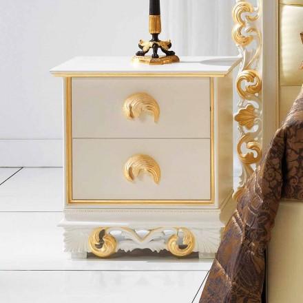 ontwerpen nachtkastje in hout met 2 laden Zucchi, made in Italy