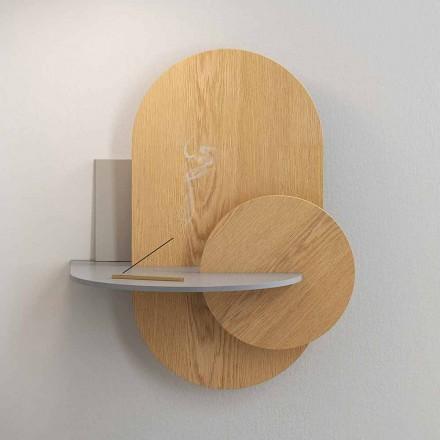 Nachtkastje in multiplex samengesteld uit 3 modulaire panelen Modern design - Zita
