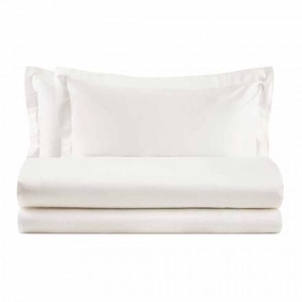 Elegante set voor tweepersoonsbed in satijnkleurig katoen - Violetta