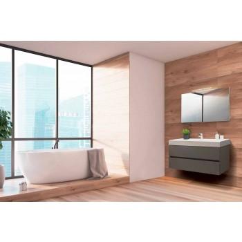 Badkamer zwevende compositie in Fenix Gray - Becky