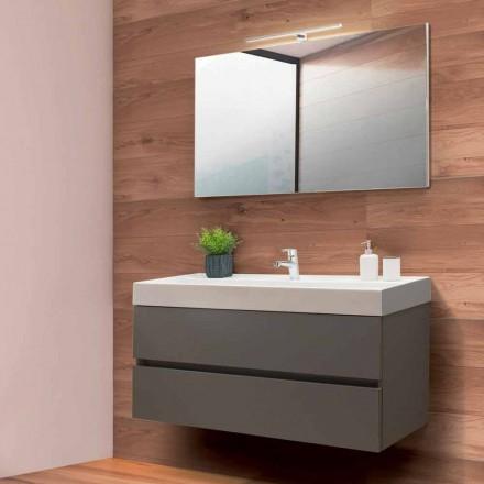 Badkamermeubel 120 cm, spiegel en wastafel - Becky