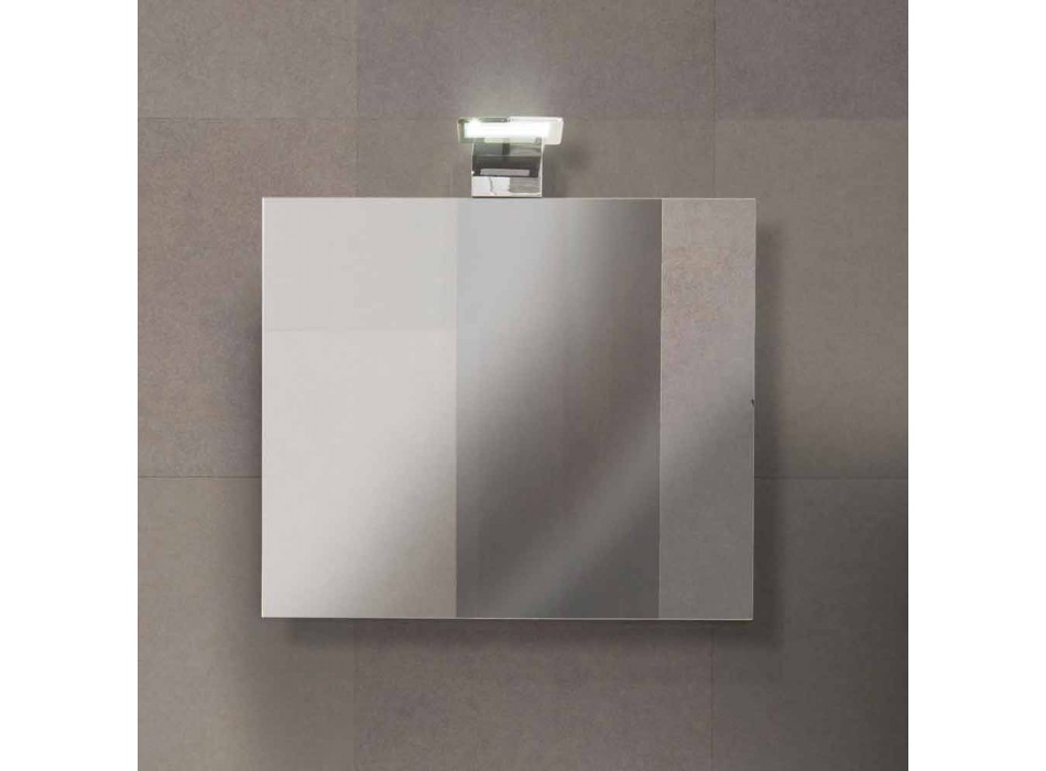 Zwevende badkamermeubelsamenstelling in eiken melamine - Becky