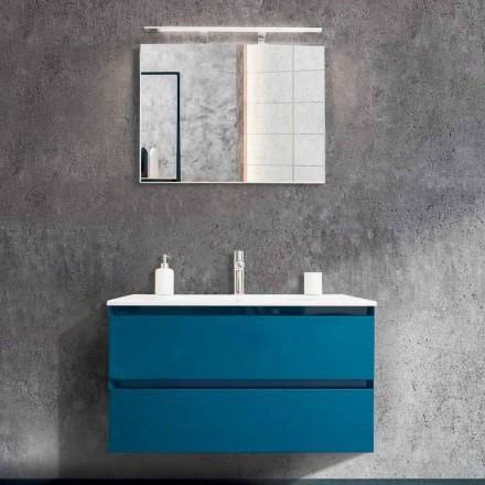 Badkamermeubel 90 cm, moderne wastafel en spiegel - Becky