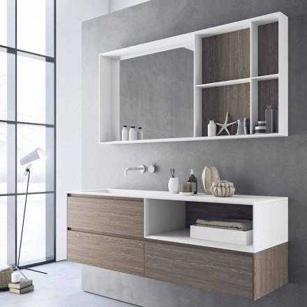 Samenstelling badkamermeubels, modern en hangend ontwerp Made in Italy - Callisi8