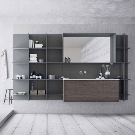 Hangende en moderne badkamermeubelsamenstelling, designmeubels - Callisi12