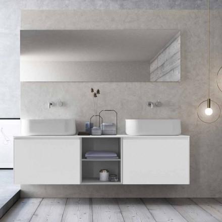 Modern design hangende badkamersamenstelling Made in Italy - Callisi14
