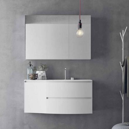 Moderne en hangende badkamersamenstelling Made in Italy Design - Callisi7