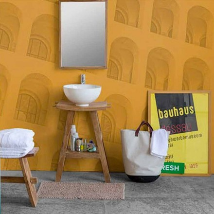 Samenstelling van badkamermeubels in massief teak met modern design - Azina