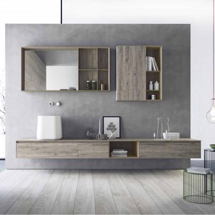 Samenstelling van modern badkamermeubilair, hangend ontwerp Made in Italy - Callisi6
