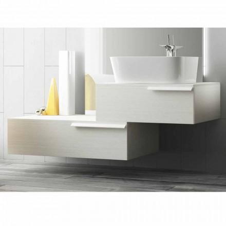 Moderne houten gelakte badkamermeubelsamenstelling