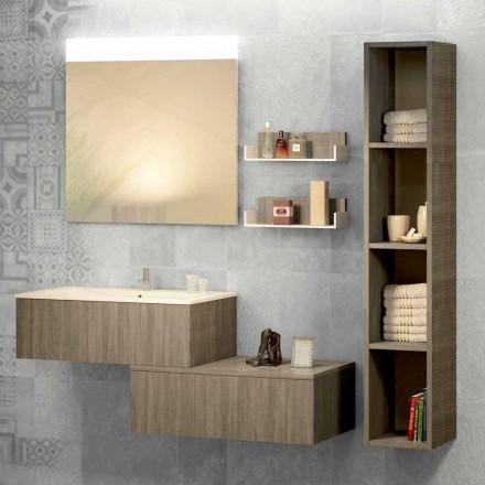 Opgeschorte badkamersamenstelling in mineralmarmo en fenix maakte Italië, Forlì