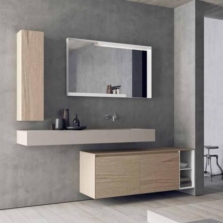 Samenstelling van moderne en hangende badkamermeubels, Made in Italy Design - Callisi1