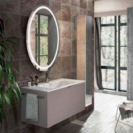 Samenstelling van hangende badkamermeubels in Genua-design