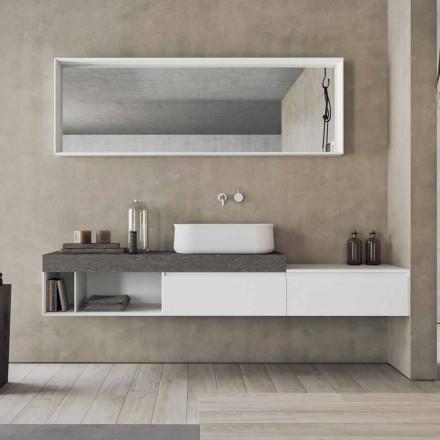 Moderne en hangende samenstelling van designbadkamermeubels - Callisi2