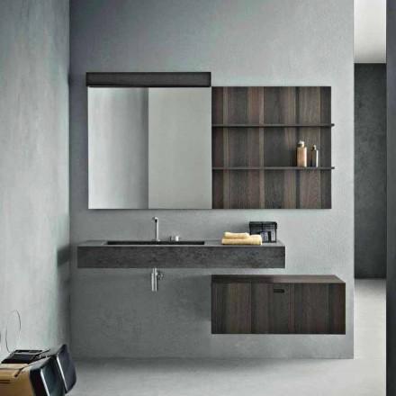 Compositie voor hangende badkamer en modern design Made in Italy - Farart9