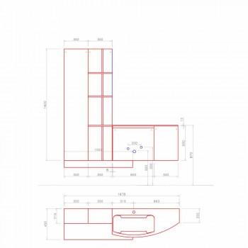 Badkamersamenstelling, modern Italiaans designophanging - Callisi10