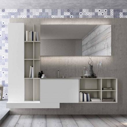Hangende badkamermeubelsamenstelling met modern design Made in Italy - Callisi15