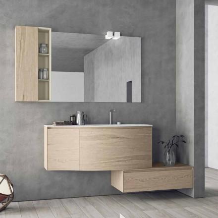 Hangende en moderne compositie voor de badkamer, Made in Italy Design - Callisi4