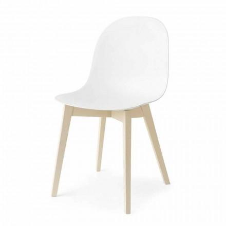 Connubia Calligaris Academy basic design stoel in hout, 2 stuks