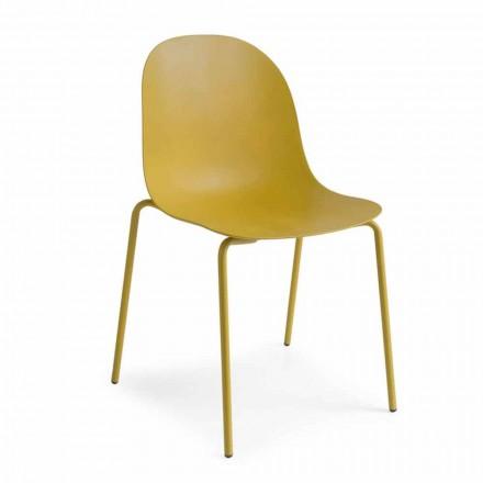 Connubia Academy Calligaris stoel ontwerp polypropyleen, 2 stuks