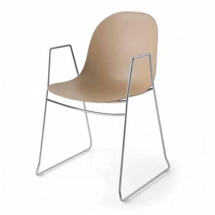 Connubia Academy Calligaris moderne stoel in polypropyleen, 2 stuks