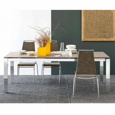 Connubia Calligaris Baron tafel keramische-glazen tafel, L130 / 190