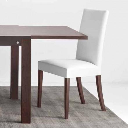 Connubia Kopenhagen Calligaris stoel in kunstleer en hout, 2 stuks