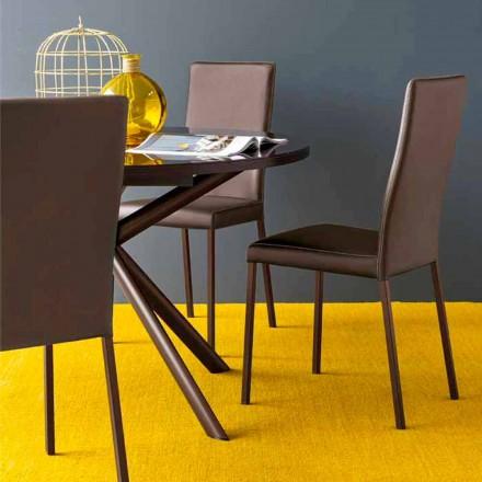 Connubia Calligaris Garda moderne stoel in stof en metaal, 2 stuks