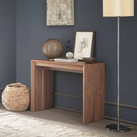 Uitschuifbare tafelconsole tot 295 cm in hout Made in Italy Design - Temocle