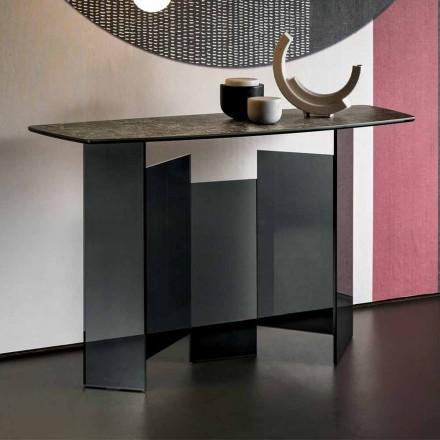 Design woonkamer Consolle in keramiek en glas gemaakt in Italië - willekeurig