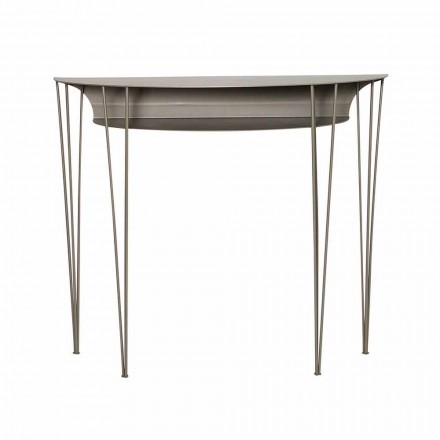 Moderne woonkamerconsole in staal Made in Italy - Adalgiso