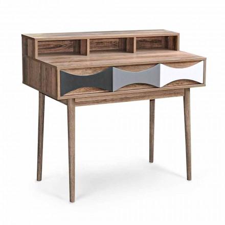 Moderne designconsole in grenenhout en Mdf met 3 laden - Aruspice