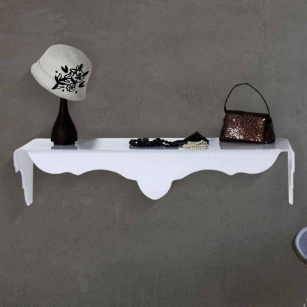 Vaste console te ontwerpen muur wit Bianca, made in Italy