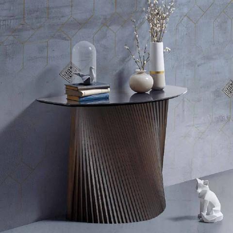 Moderne vaste console met bolle vorm en steengoed blad, Apex