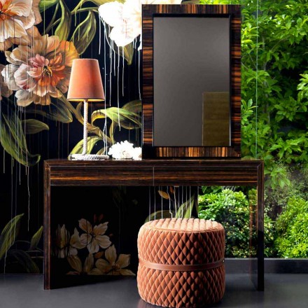 Grilli Zarafa moderne ebbenhout houten console gemaakt in Italië