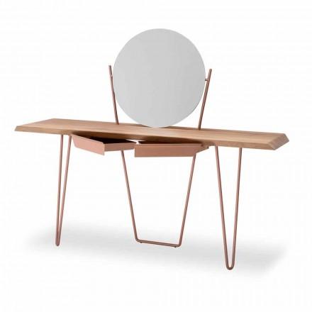 Moderne houten en metalen console gemaakt in Italië - Coseno Plus