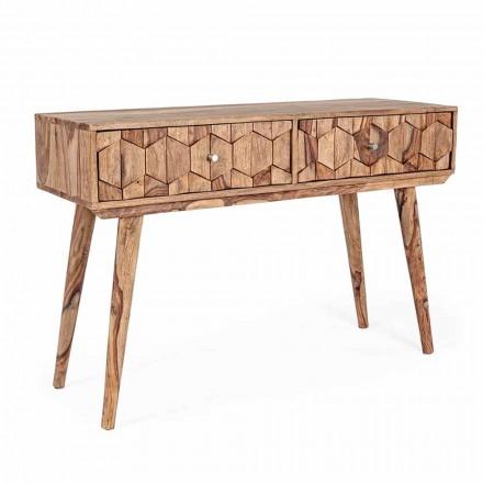 Console van Sheesham-hout met twee laden Etnisch ontwerp Homemotion - Fregene
