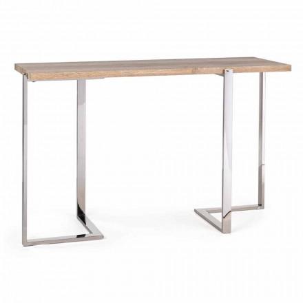 Moderne console in staal en blad in Mdf en Melamine Design - Rafano