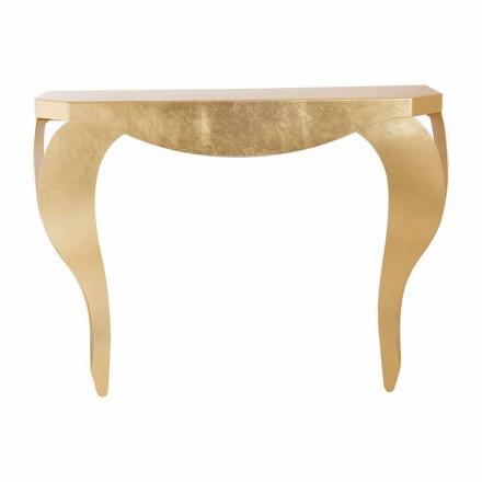 Moderne console in ijzerblad goud of zilver Gemaakt in Italië - Daledale